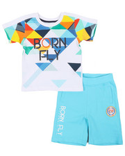 Sizes 2T-4T - Toddler - Tee & Loopback Shorts (2T-4T)-2459805