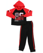 Sizes 4-7x - Kids - Fleece Hoodie & Jogger Pants Set (4-7)-2460372