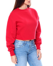 Red Fox - Fleece L/S Crewneck Crop Top-2461440