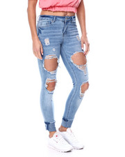 Women - High Rise Blow Out Destruction Skinny Jean-2460495