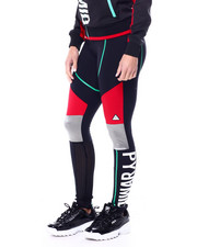 Black Pyramid - Color Blocked Linear Logo Leggings-2461390