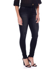 YMI Jeans - Curvy Fit Distressed High Waisted Jean-2461354