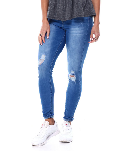 YMI Jeans - Curvy Fit Distressed High Waisted Jean