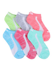 Girls - 6 Pack Low Cut Socks (4-9.5)-2460065