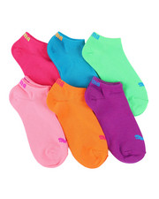 Girls - 6 Pack No Show Socks (4-9.5)-2460062