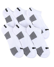 Accessories - 6 Pack 1/2 Terry No Show Socks-2460075
