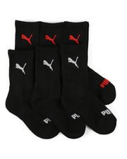 Socks - 6 Pack 1/2 Terry Crew Socks (4-8.5)-2460066