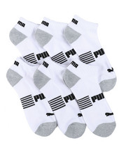 Accessories - 6 Pack 1/2 Terry Quarter Socks-2460486