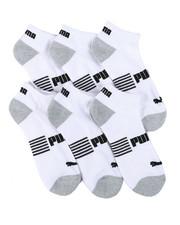DRJ SOCK SHOP - 6 Pack 1/2 Terry Quarter Socks-2460486