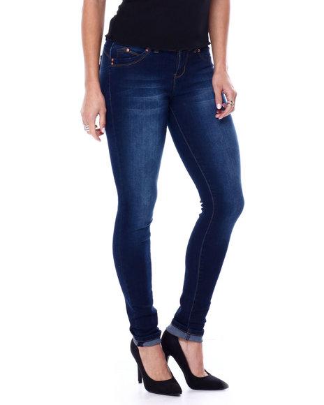 YMI Jeans - 3 Button Cuffed Skinny Jean