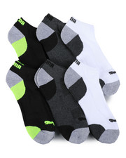 DRJ SOCK SHOP - 6 Pack 1/2 Terry Low Cut Socks-2460074