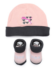 Girls - 2 Piece Hat & Bootie Set (Infant)-2460079