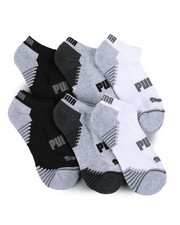 Socks - 6 Pack 1/2 Terry Low Cut Socks (4-9.5)-2460068