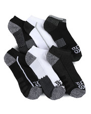 Accessories - 6 Pack 1/2 Cushion No Show Socks-2460387