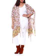 Tops - S/S Border Print Kimono W/ Tassel Detail-2459797