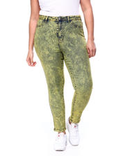 Plus Size - Acid Wash High Rise Skinny Jean (Plus)-2462513