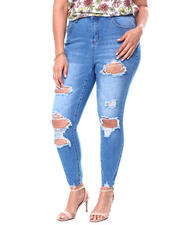Jeans - High Rise Destructed Skinny Ankle Jean (Plus)-2460534