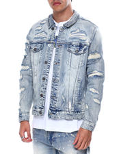 Outerwear - Distressed Ripped Denim Jacket-2462864