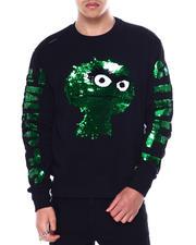 Sweatshirts & Sweaters - Oscar the Grouch Sequins Crewneck Sweatshirt-2462112