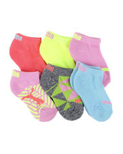 Girls - 6 Pack 1/2 Terry Low Cut Socks (4-8.5)-2460061