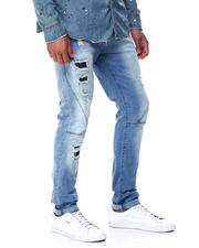 Men - Seamed Distressed Stretch Jean-2463406