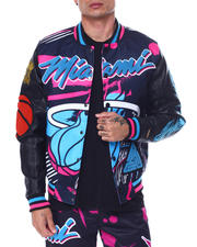 Men - BP X PRO Standard  Miami Heat Vice Team Logo Jacket-2463541