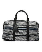 Fashion Lab - Canvas Weekender W/ Braided Handles And Tassels-2461979