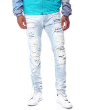 Men - Distressed Moto Jean-2463518