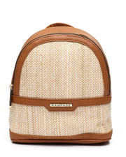 Fashion Lab - Straw Dome Mini Backpack-2461332