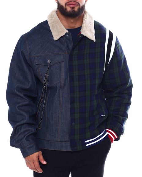 AKOO - The Dean Half Denim Half Plaid Jacket (B&T)