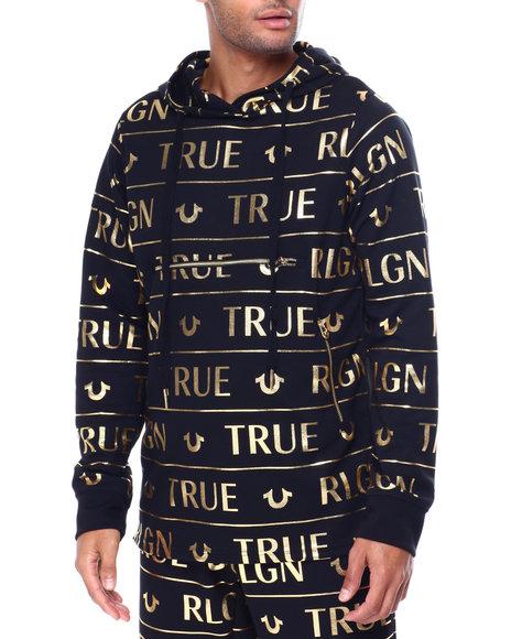 True Religion - THREE ZIP ALLOVER FOIL Hoody