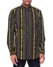 Holiday Shop - Men - Animal Stripe and Chains LS Woven Shirt-2464102