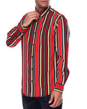 Holiday Shop - Men - Vertial Chain Stripe LS Woven Shirt-2464075