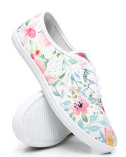Footwear - Floral Lace-Up Sneakers-2462613