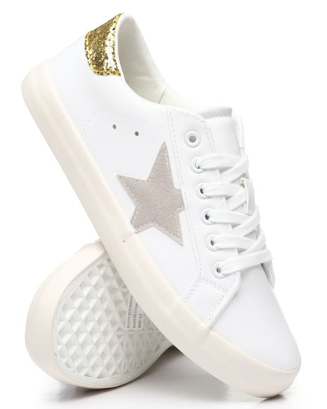 Fashion Lab - Star Side Lace-Up Sneakers