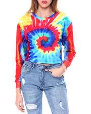 Red Fox - French Terry Tie Dye Cropped Sweatshirt-2464544