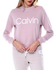 Calvin Klein - Calvin Logo L/S Mock Neck Pullover-2463946