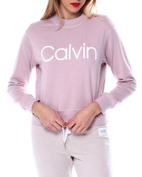 Calvin Klein - Calvin Logo L/S Mock Neck Pullover