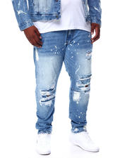 SMOKE RISE - Rip & Tear Distressed Denim Jeans (B&T)-2464061