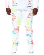 SMOKE RISE - Paint Splatter Denim Jeans (B&T)-2463956