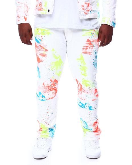 SMOKE RISE - Paint Splatter Denim Jeans (B&T)