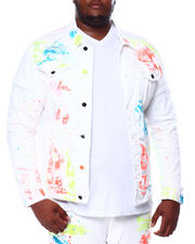 SMOKE RISE - Paint Splatter Denim Jacket (B&T)-2463880