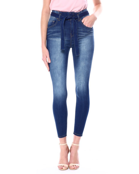 Almost Famous - Belted Skinny Jean