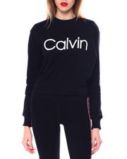 Women - Calvin Logo L/S Mock Neck Pullover-2463938