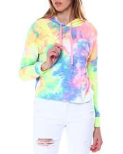 Hoodies - Tie Dye Shoulder Pullover Hoodie-2462221