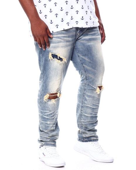 SMOKE RISE - Rip Knee Denim Jeans (B&T)