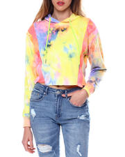 Red Fox - French Terry Tie Dye Cropped Hoodie-2464540