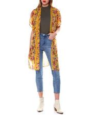 DEREK HEART - Floral S/S Crepe Chiffon Kimono-2462343