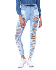 Red Fox - High Waist Shredded Back & Front Skinny Jean-2464549