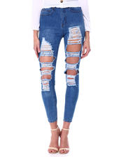 Red Fox - High Waist Blow Out Rips Skinny Jean-2464562